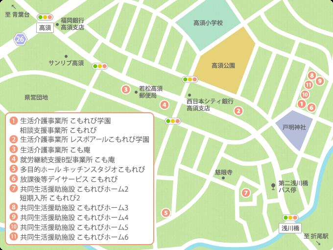 こもれび学園マップ